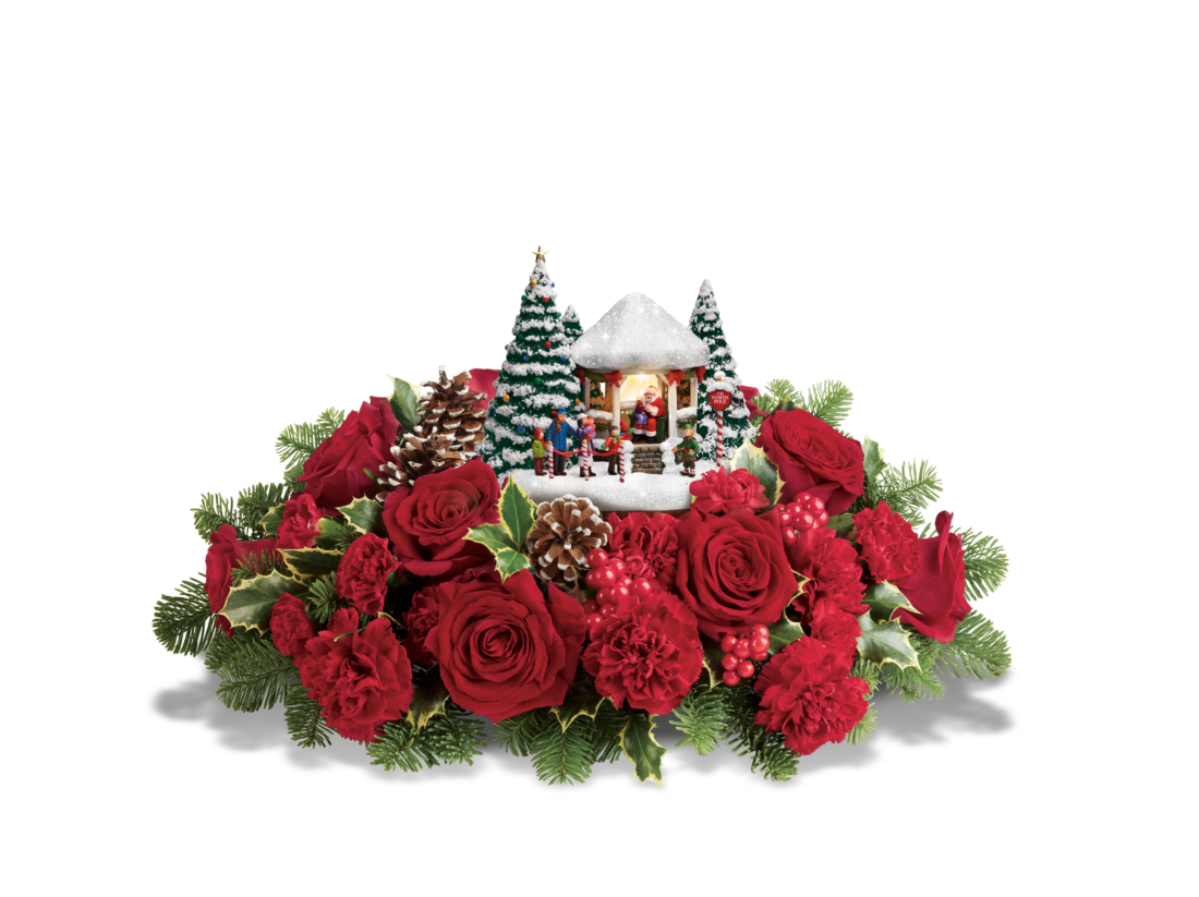 teleflora Thomas Kinkade jolly santa bouquet Photo Credit: Scott Clark Photo