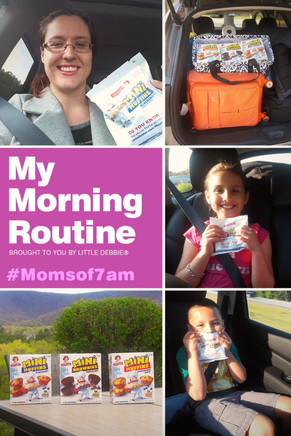 The Social Commerce Mom's Morning Routine courtesy of Little Debbie® Moms of 7am