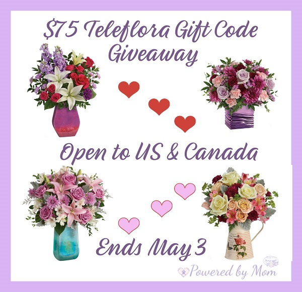 Teleflora Mother's Day Giveaway Ends 5/9/19 $75 Gift Code