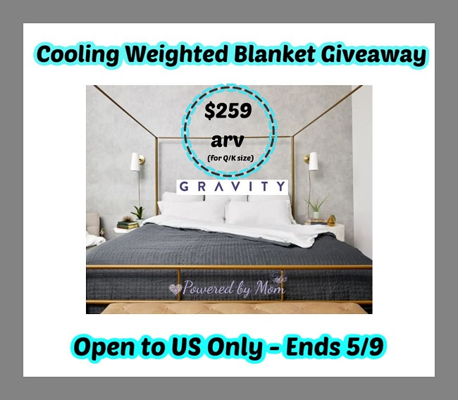 Weighted blanket giveaway ends 5-9-20 $259 US 18+